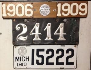 1909 1910 plates