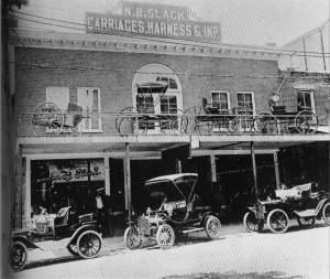 Car dealership circa 1905